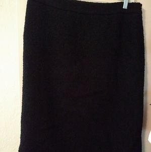 Sz 10 Moschino black lined wool skirt excellent!
